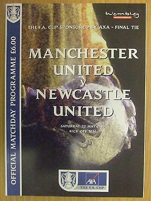 MANCHESTER UTD v NEWCASTLE: 1999 FA CUP FINAL PROGRAMME: MINT CONDITION: LOOK!!!