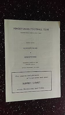 Kingstonian V Brentford 1983-84