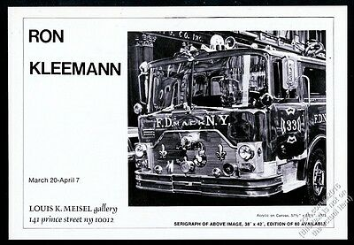 1976 FDNY Mack fire engine truck painting Ron Kleemann NYC gallery show print ad