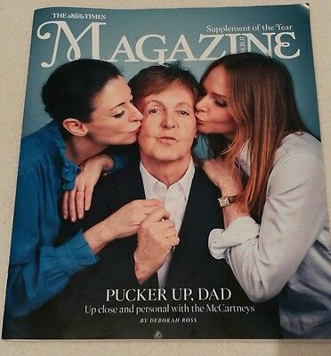 The Times Magazine May 2017 Paul McCartney front cover New Cond