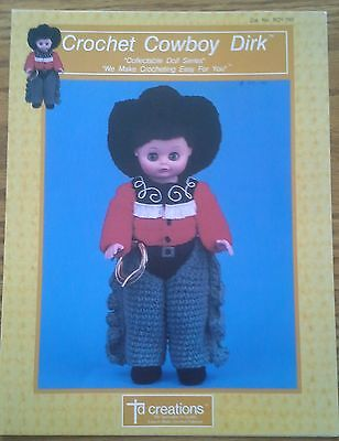 COWBOY DIRK - Collectable Doll Series (1989) CROCHET Pattern