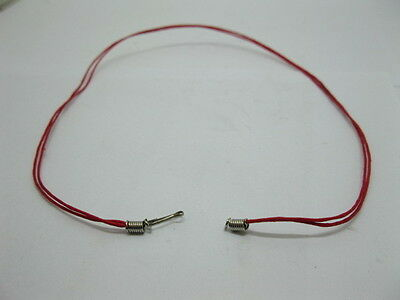 95 Red 2-String Waxen Strings For Necklace Nickel Clasp