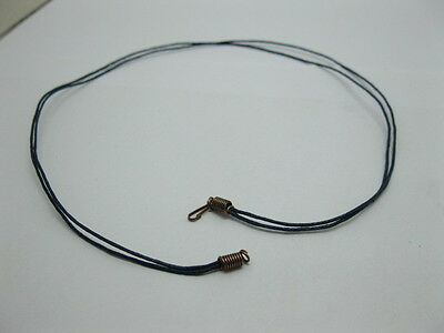 95 Navy 2-String Waxen Strings For Necklace Copper Clasp