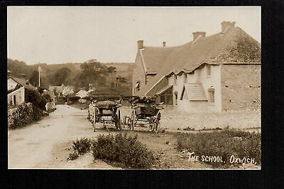 Oxwich - The School - real photographic postcard