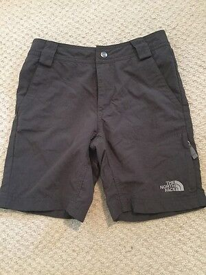 The North Face Grey Boys Walking Travel Shorts Hiking Lightweight 7-8 Years