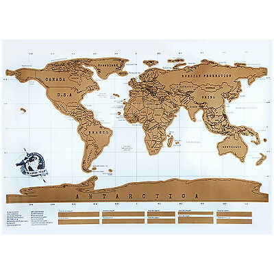 Classic Hot Scratch Off Personalized World Travel Map And Poster Travel Vacation
