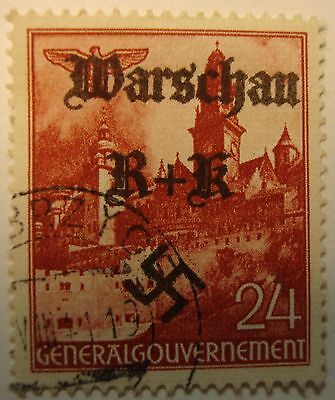 GERMANY WW2   3rd  REICH    OVERPRINT    STAMP.-