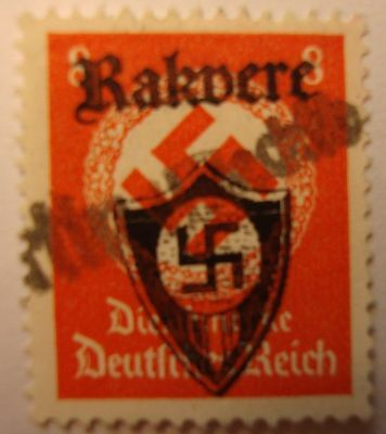 GERMANY WW2   3rd  REICH    OVERPRINT. .STAMP-..