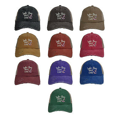 534d65cc9fd56 LAKE HAIR DON T CARE Trucker Dad Hat Summer Lake Life Baseball Cap - Many