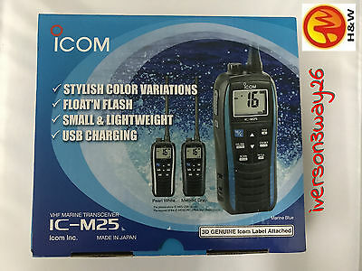 Icom M25 5W Floating Vhf In Pearl White Part # M25 41