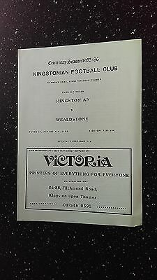 Kingstonian V Wealdstone 1985-86.
