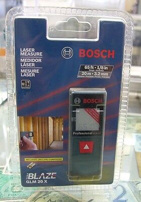 New Bosch GLM 20X Compact Laser Measure w/Backlit Display 65' Distance Meter