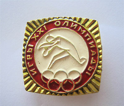 Montreal1976 Olympic Games Athletics-Track And Field Shot Put Competitions Pin