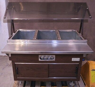 Duke DPAH-3HFM 3-Well Hot Buffet Bar Food Warmer Serving Line Electric Portable