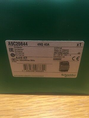 Schneider Acti9 ICT (Merlin Gerin) Contactor A9C20844  40A 4 N/O NEW