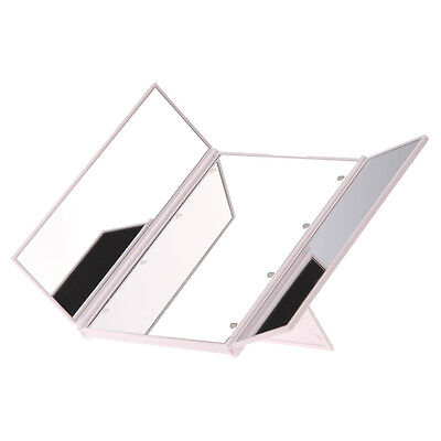 White Foldable LED Illuminated Make Up Cosmetic Tabletop Beauty Vanity Mirror
