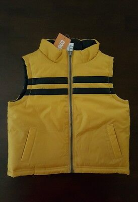 NWT Gymboree Yellow Fall/Winter Vest 12-24 Months Toddler Boy