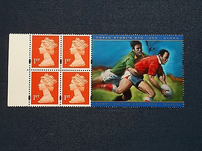 MACHIN NVI BOOKLET PANE RUGBY SPORT WORLD CUP WALES 1999 HB18 1667m UNFOLDED