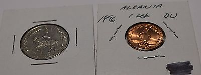 Albania 1996 Coins Lek Choice BU Coin and 50 Leke Great Details - Sml3