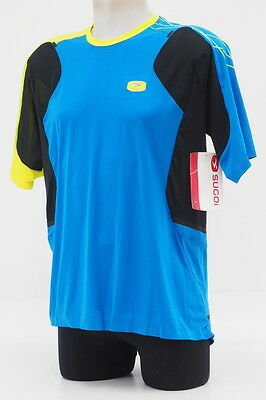 New! Sugoi Men's RSX Short Sleeve Cycling Jersey Size Large Blue/Yellow