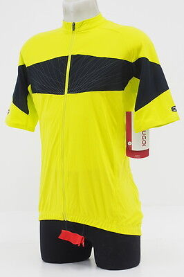 New! Sugoi Mens RPM Pro Road Cycling Jersey Short Sleeve Size Large Black/Yellow