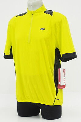 New! Sugoi Men's RS Pro Short Sleeve Cycling Jersey Size Large Yellow/Black