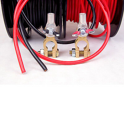 DUAL BATTERY & ANDERSON PLUG WIRE - 6 B&S 140A CABLE - RED - Price is per meter