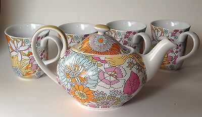 Liberty of London for Target, Ceramic Teapot and 4 Cups, Paisley