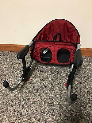 Chicco Baby Travel Seat Caddy Portable Hook-on Collapsible Table High Chair ~Red
