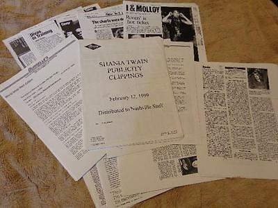 Shania Twain *150+ Pages Of Copied Magazine & Newspaper Clippings From 1999 Era!