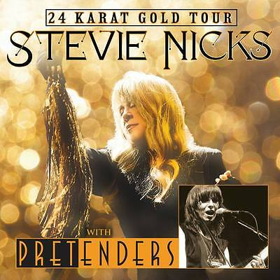 "STEVIE NICKS / THE PRETENDERS ""24 KARAT GOLD TOUR"" 2016-17 POSTER- Fleetwood Mac"