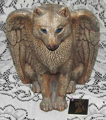 Windstone Collections Spirit Wolf Figural Candle Holder Statue  Buy It Now