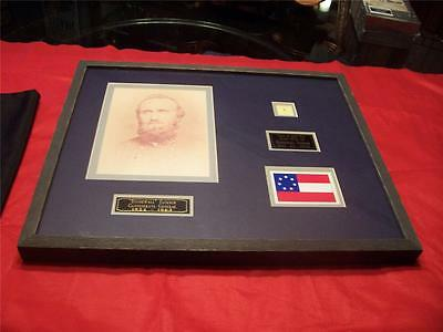 Stonewall Jackson Piece Of Civil War Scarf With 211 Of 300 Framed Rare!!! Coa
