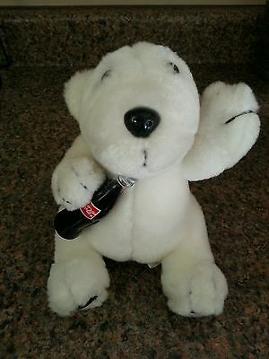 1996 Coca Cola Plush Collection Polar Bear toy coke bottle