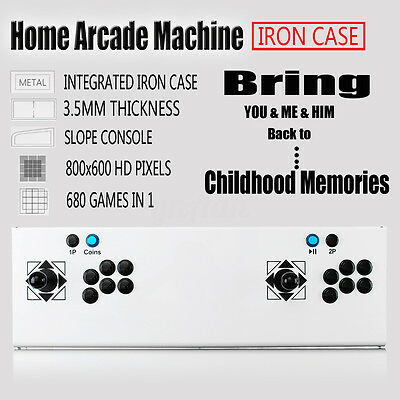 2017 NEW Retro Metal Arcade Game Machine Home Double Gaming Console HD 680 in 1