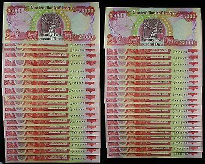 (40) Iraq 25,000 Dinar Banknotes ~ 1 Million Total Dinars ~ Exchange #DM1