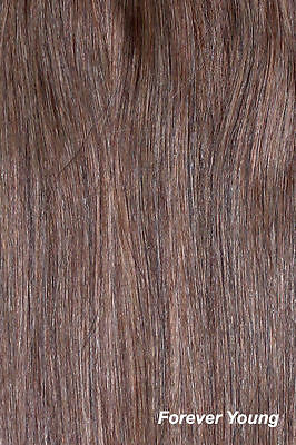 """Full Head Clip In Hair Extension Double Weft Clip In Synthetic 20"""" Light Brown"""