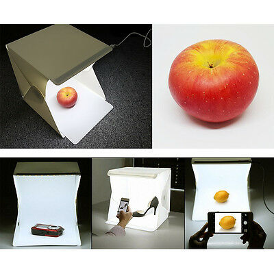 Photographie Studio Tente Pliable Boite Lumiere LED Photo Studio Éclairage