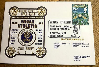 Football First Day Cover  Wigan Athletic V Brentford