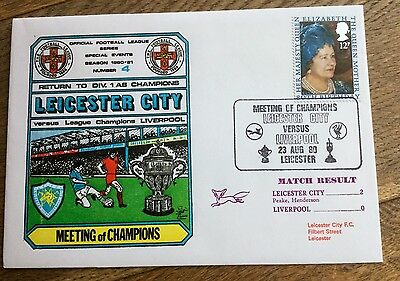Football First Day Cover  Leicester City V Liverpool
