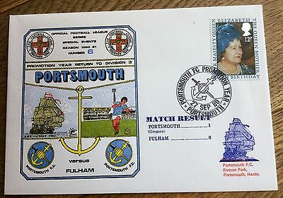 Football First Day Cover  Portsmouth V Fulham