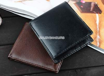 Men's Business Wallet , Slim Soft Leather Card Holder , ID Window ,free Post
