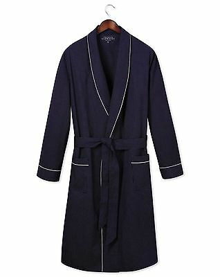 Mens Gents Charles Tyrwhitt Of London Blue Cotton Robe Dressing Gown XXL NEW