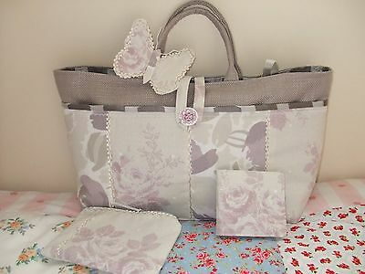 Knitting/sewing Craft Bag New Hand Made  Beige Colour