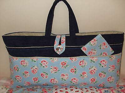 Knitting/sewing Craft Bag New Hand Made Navy Colour