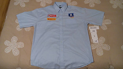 Rare Chemise Occasion Used Shirt Peugeot Sport Total Pirelli Taille 42Fr Size L