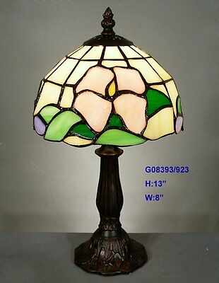 *LIMITED* TIFFANY STAINED GLASS GEOMETRIC LEADLIGHT LOUNGE TABLE LAMP Home Decor