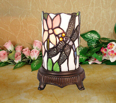 *LIMITED* TIFFANY STAINED GLASS FLORAL LEADLIGHT LOUNGE DESK LAMP Home Decor