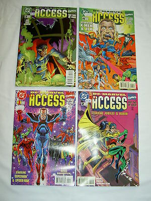 Access :  Complete 4 Issue 1996 Series. Groundbreaking Dc / Marvel Crossover