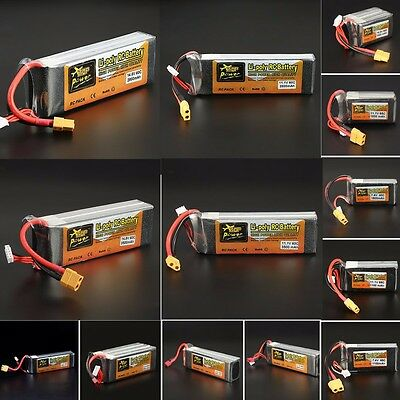 11.1V 7.4V 14.8V 22.2V ZOP Power 500-5000mAh 65C 60C Lipo Battery XT60 T Plug